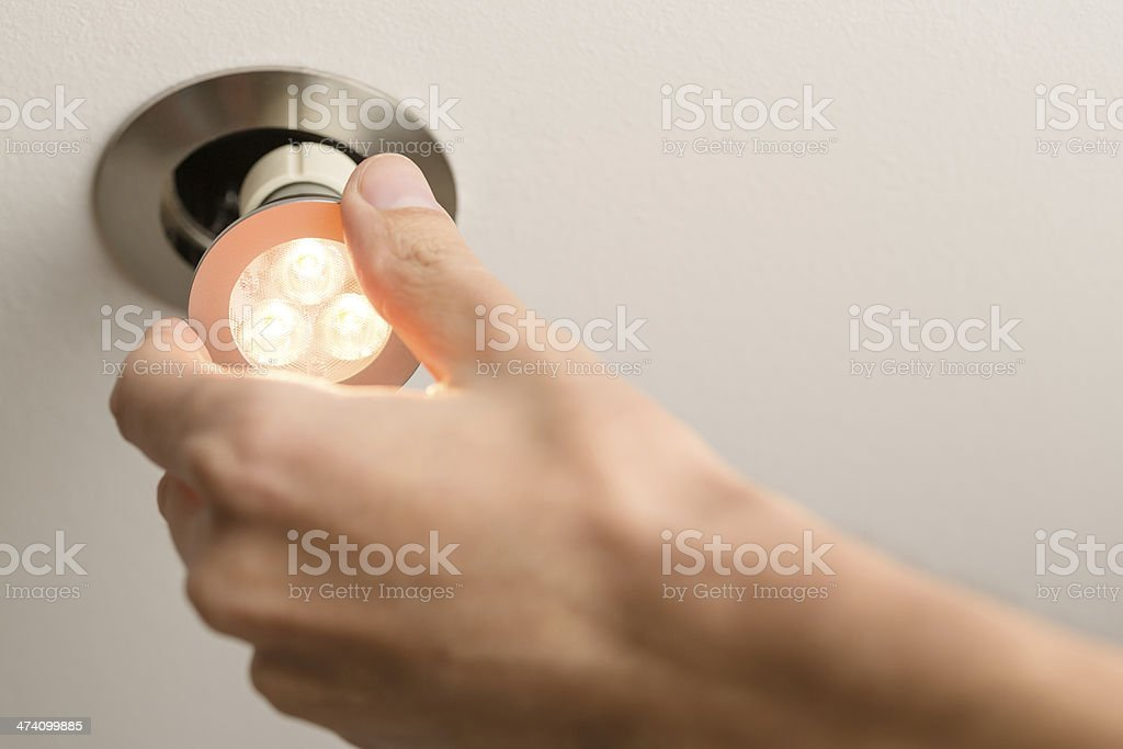 LED light Installation stock photo