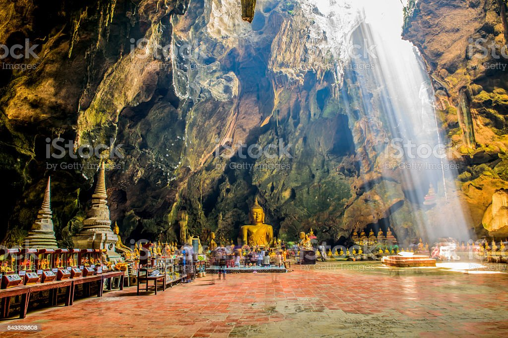 Light into the cave, Phetchaburi, Thailand stock photo