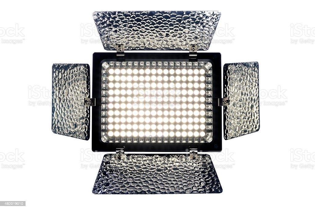 LED Light  isolated on white background stock photo