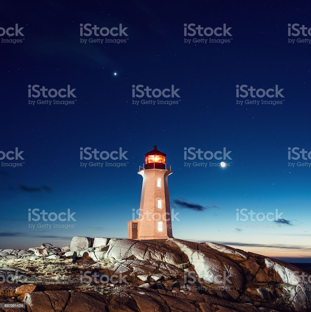 Light Keeper's Home stock photo