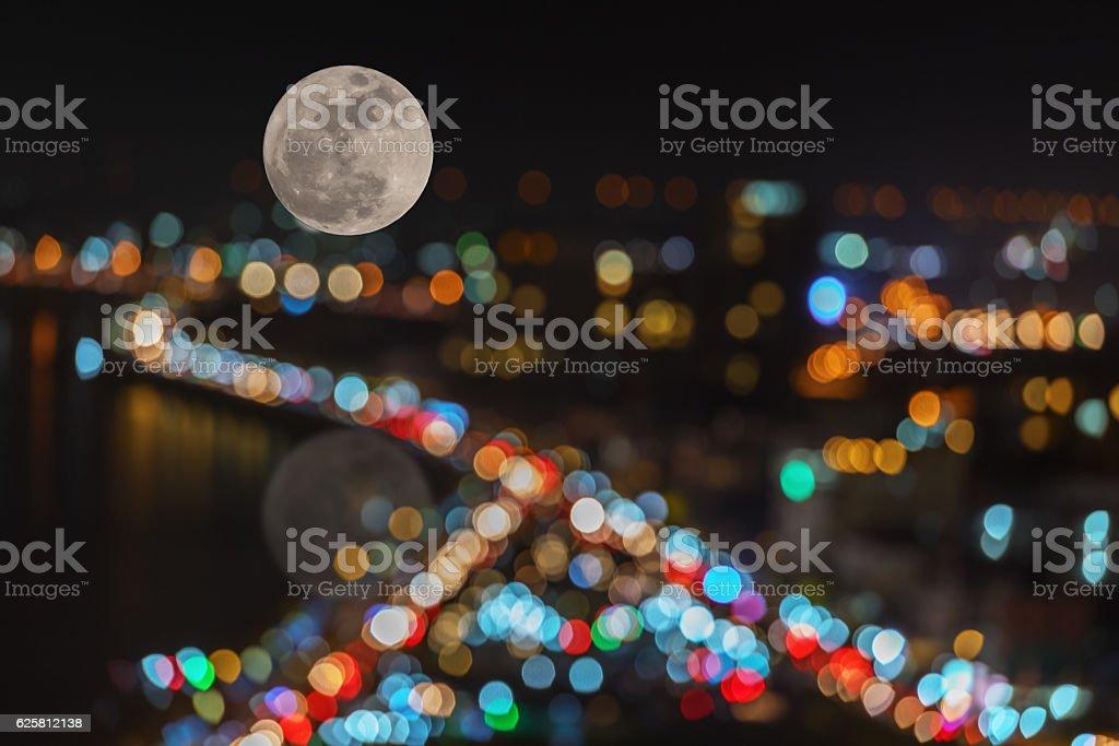 Light line with bokeh stock photo