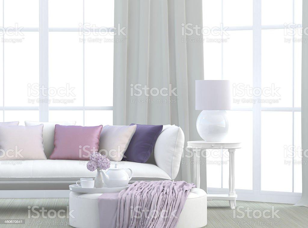 Light living room stock photo