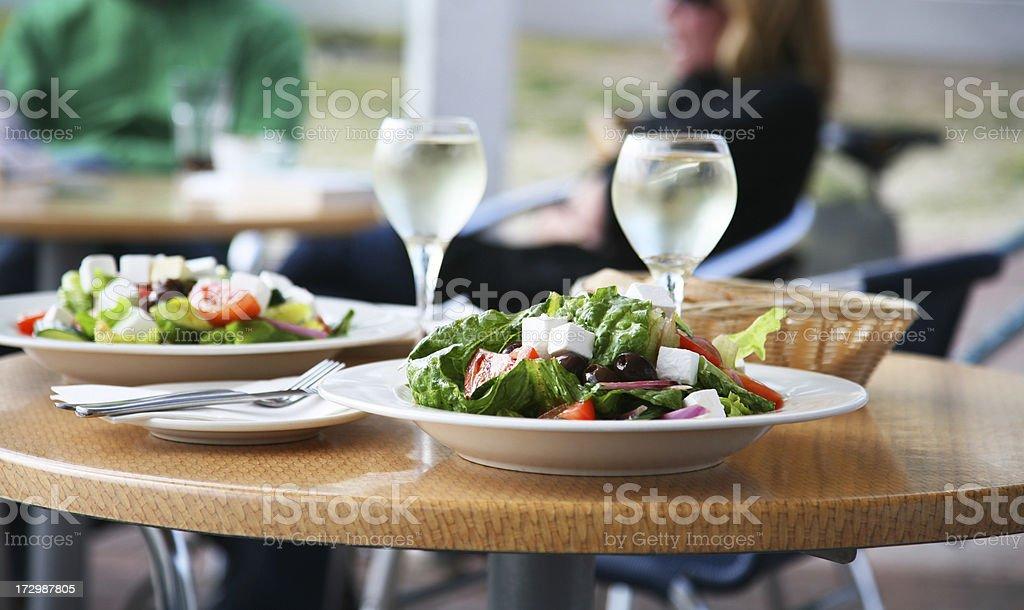 Light lunch stock photo
