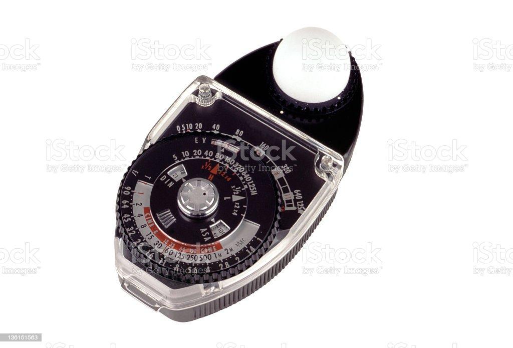 Light meter stock photo