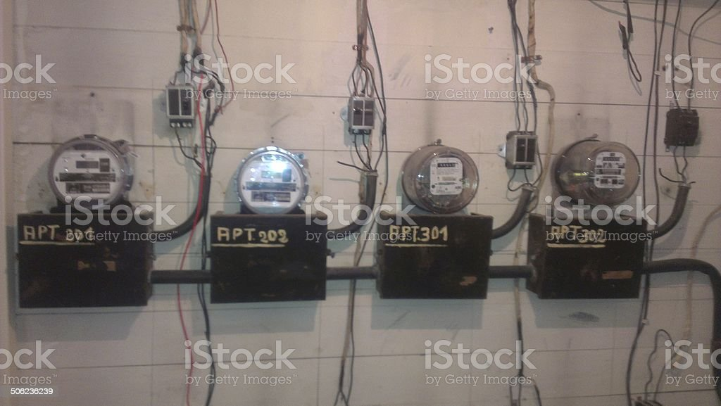light Meters - Electrical stock photo