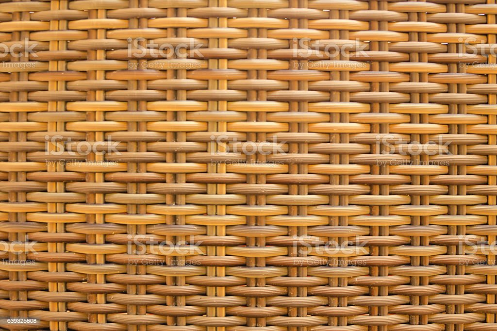 Light natural wicker textured material stock photo