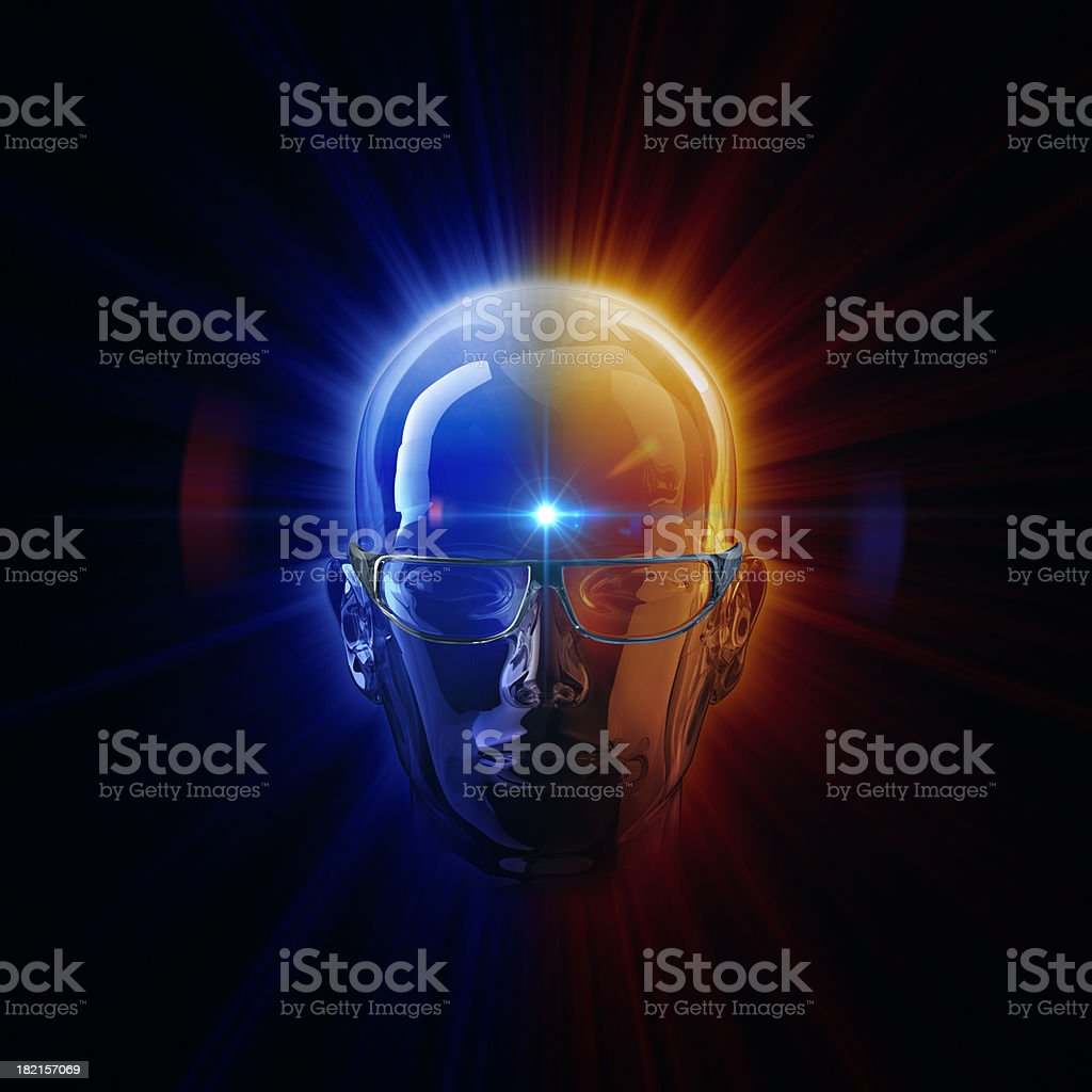 Light of 3D Cinema Technology stock photo