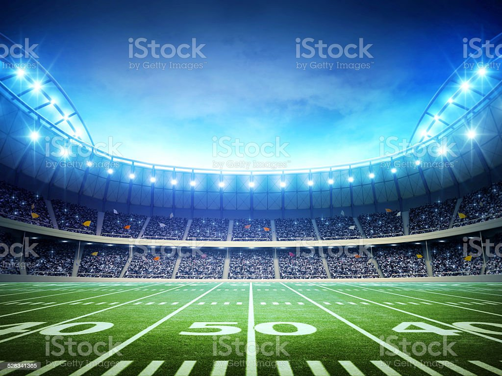light of american soccer stadium royalty-free stock photo