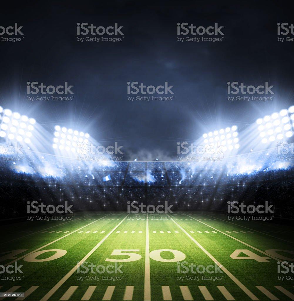 light of american stadium stock photo
