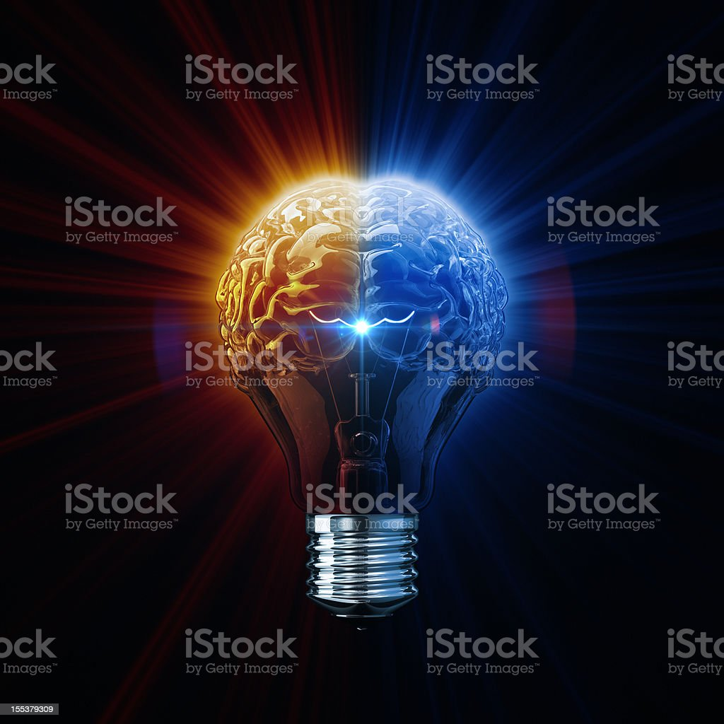 Light Of Brainstorm stock photo