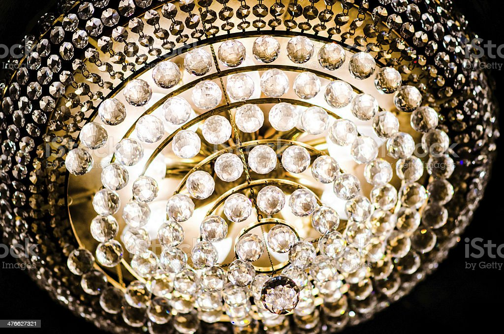 Light of Crystal lamp chandelier royalty-free stock photo