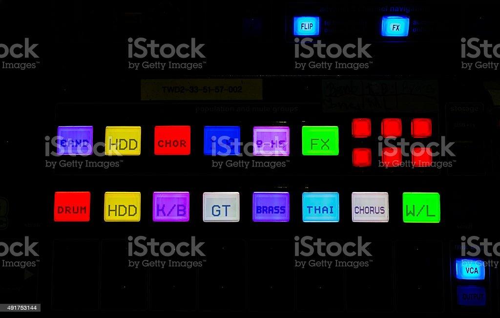 light of digital mixer stock photo