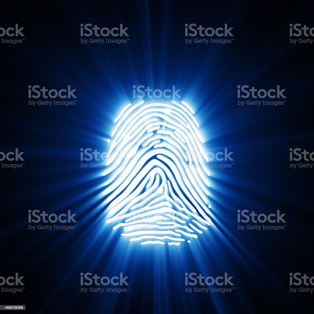 Light Of Fingerprint stock photo