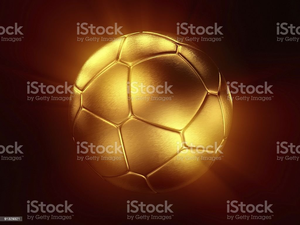 Light Of Gold Soccer Ball royalty-free stock photo