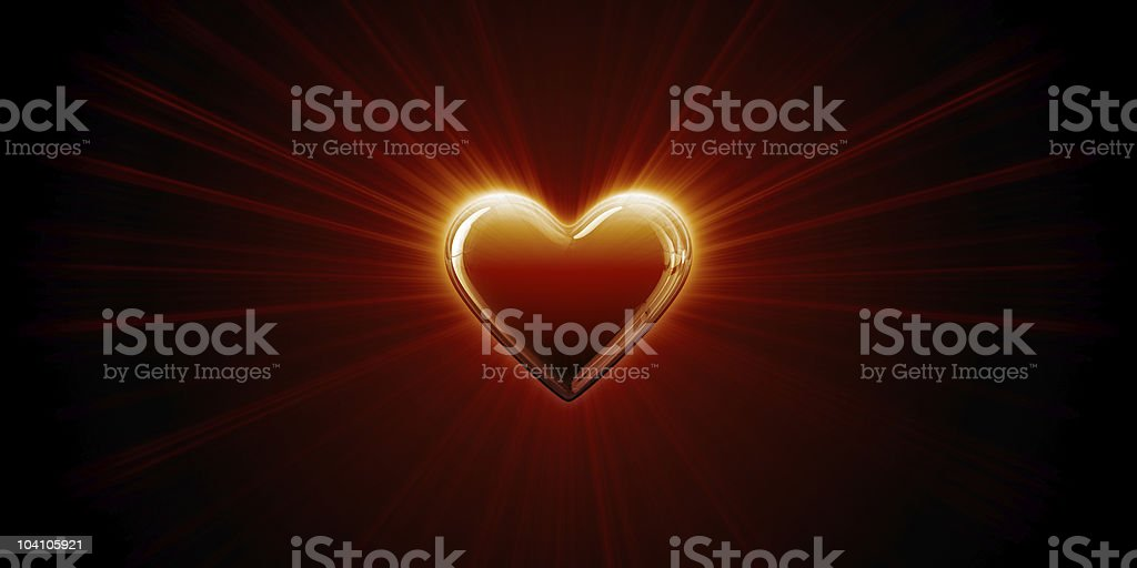 Light of heart. Valentine's Day background royalty-free stock photo