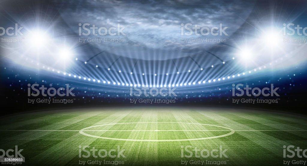 light of stadium stock photo