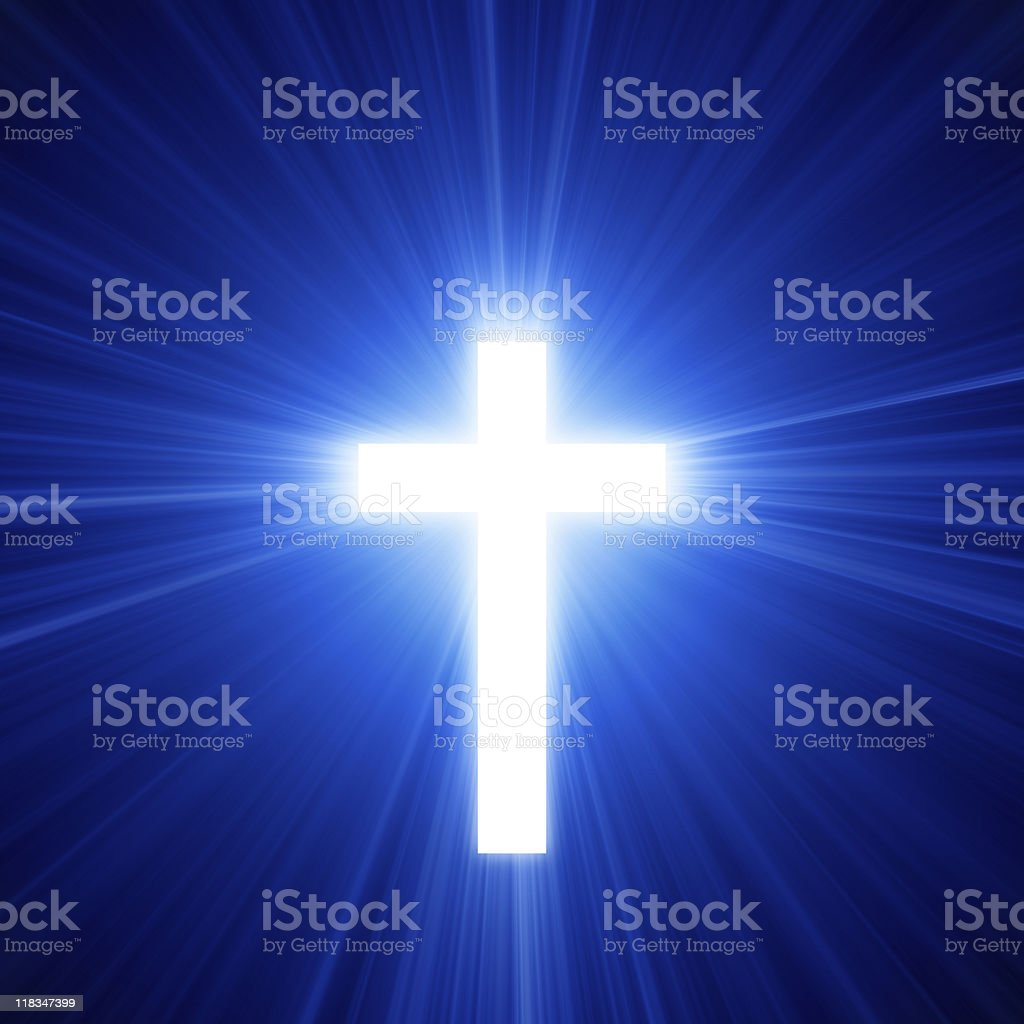 Light Of The Cross royalty-free stock photo