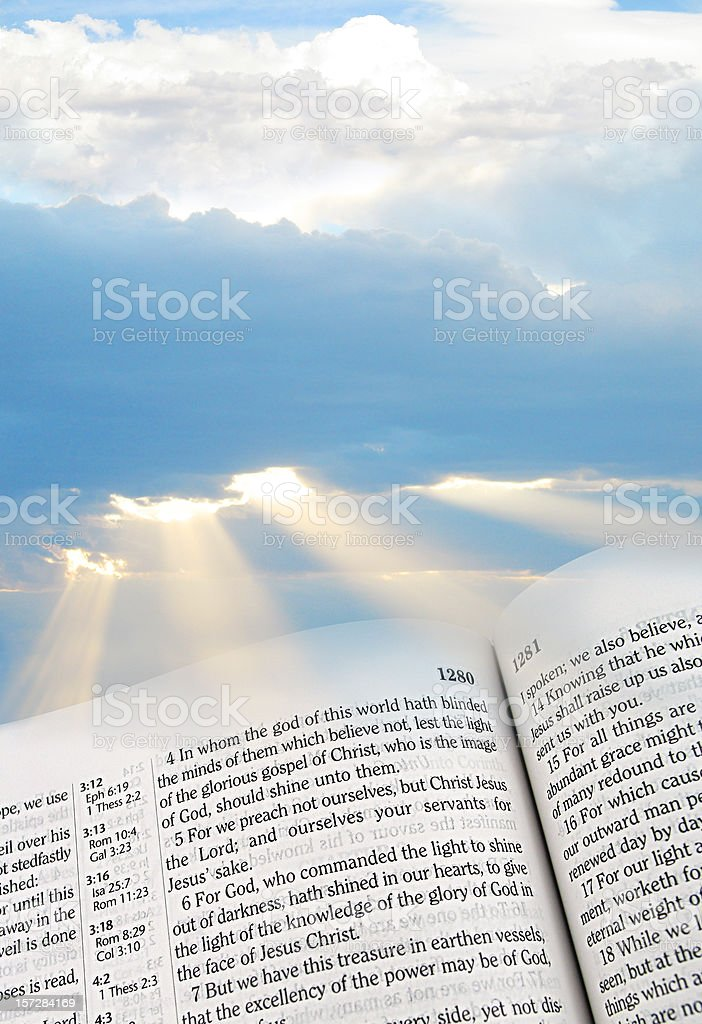 Light of the Glorious Gospel (KJV) stock photo