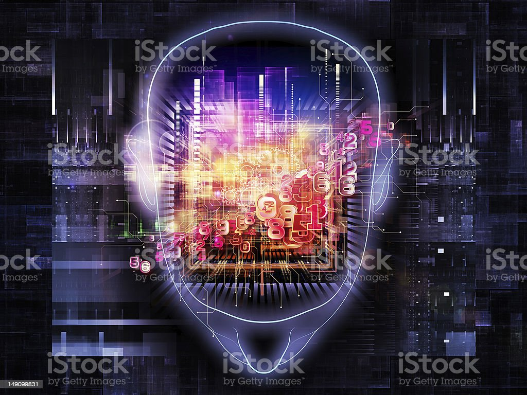 Light of the mind stock photo