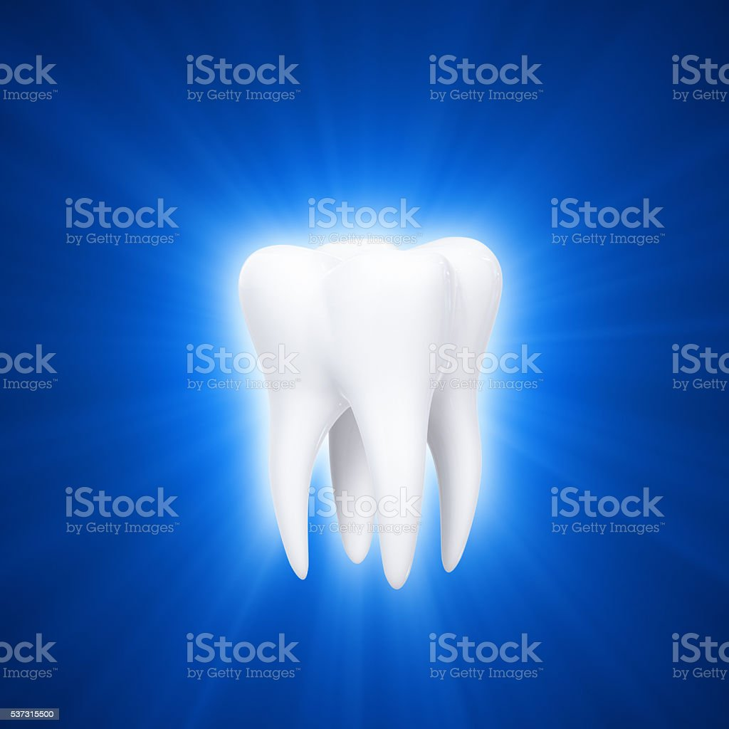 Light Of Tooth stock photo