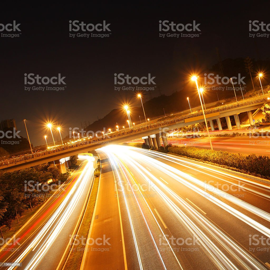 light of traffic in city royalty-free stock photo