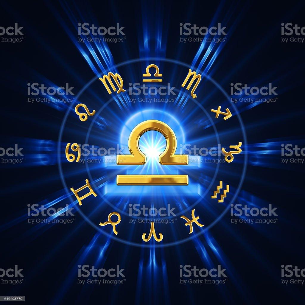 Light Of Zodiac Libra stock photo