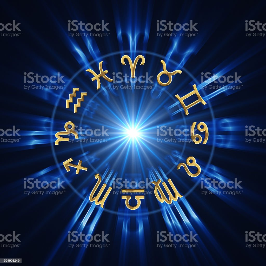 Light Of Zodiac Wheel stock photo