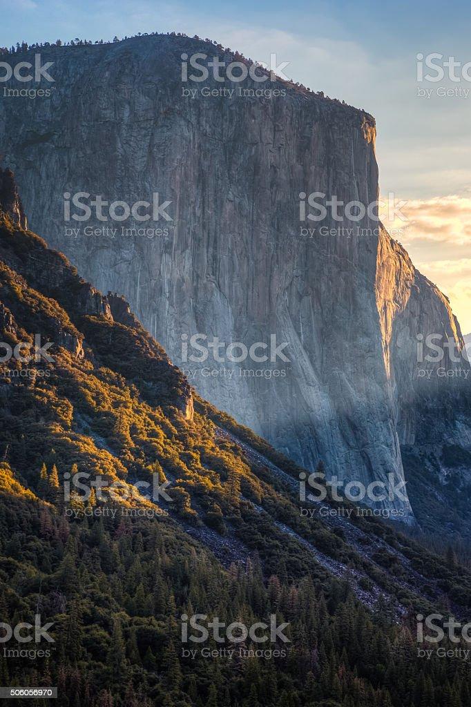 Light on El Capitan stock photo