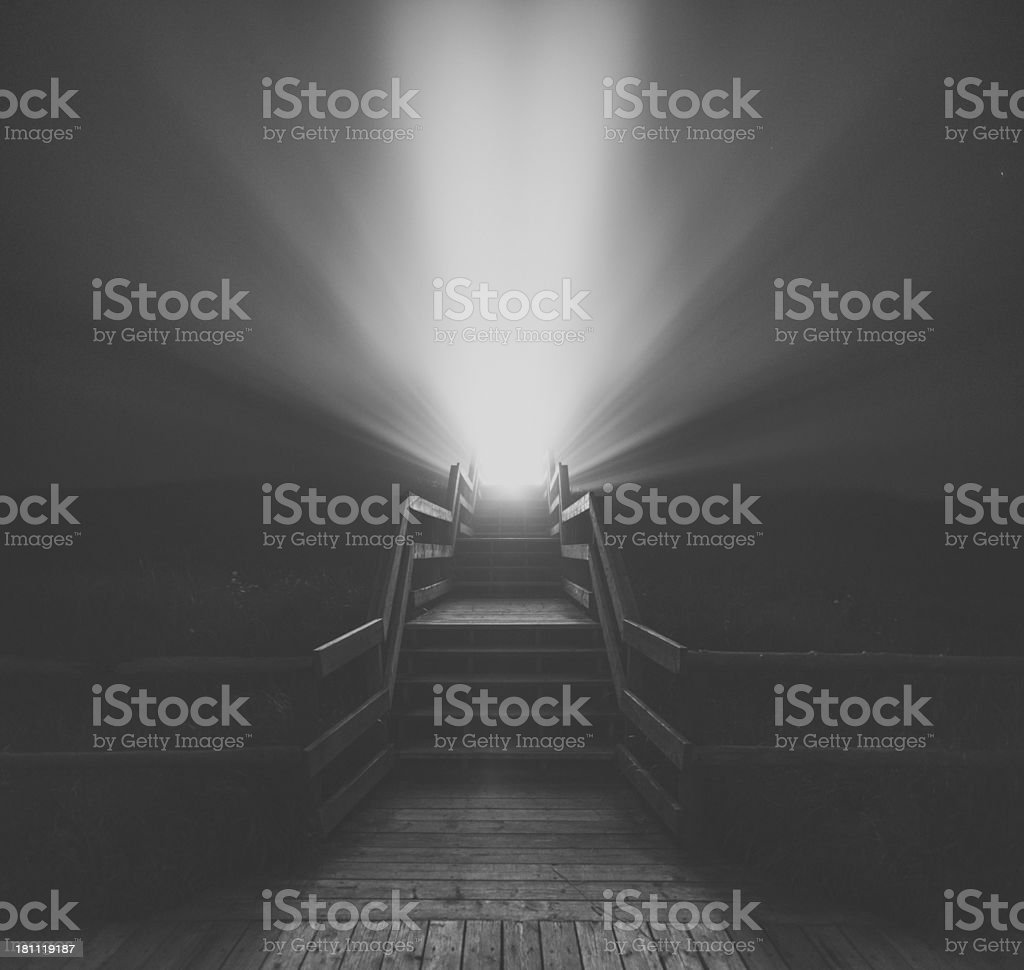 Light on the Boardwalk royalty-free stock photo