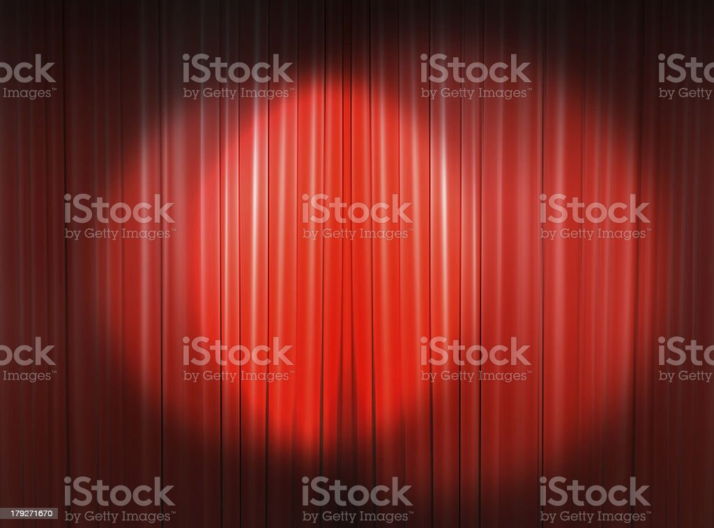 light on the main stage royalty-free stock photo