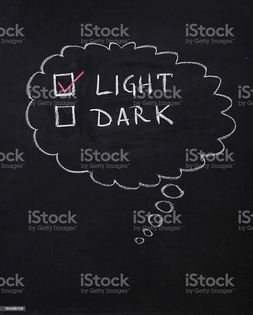 Light or dark stock photo