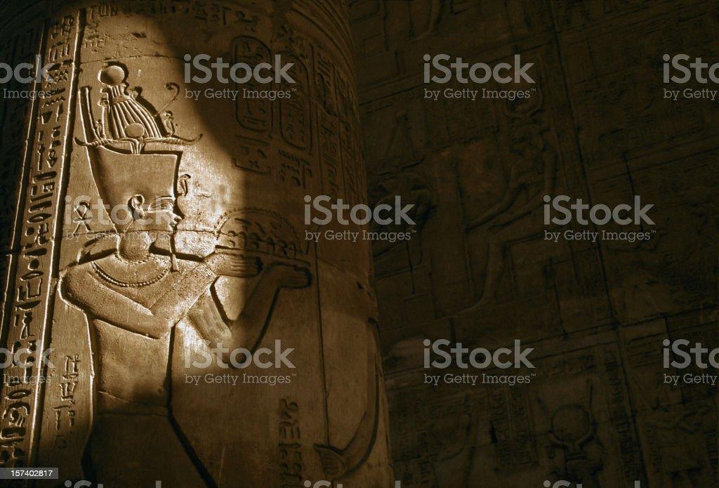 light over pharaoh royalty-free stock photo