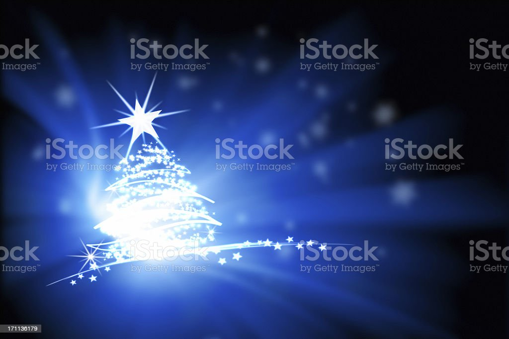 Light painted xmas tree royalty-free stock photo