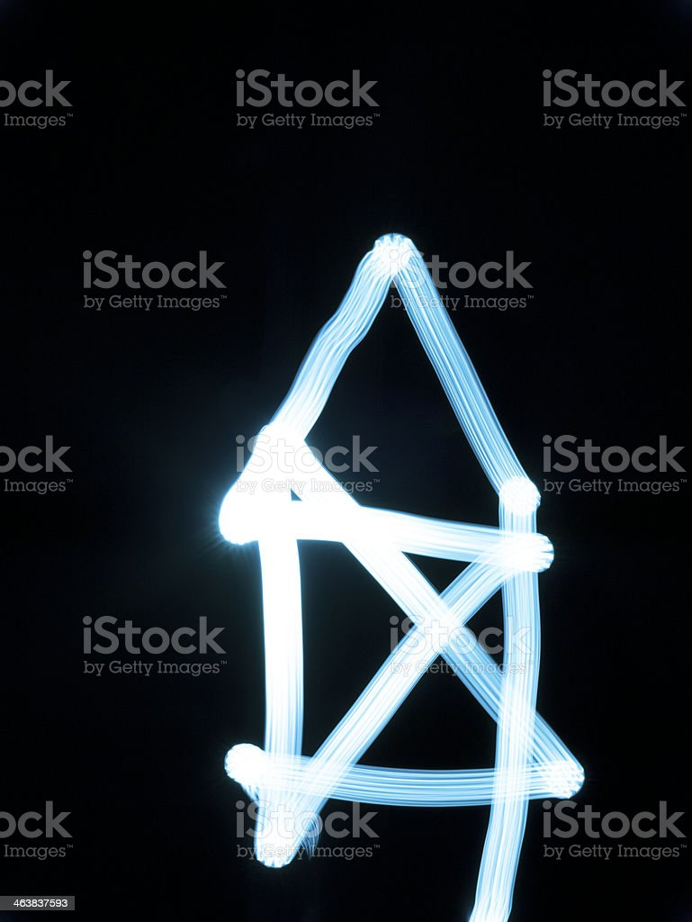 Light painting 'house' royalty-free stock photo