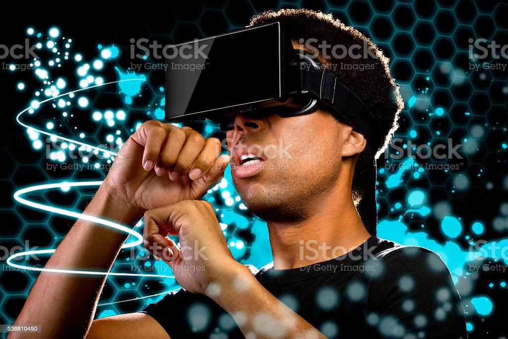 Light Painting in Virtual Reality stock photo