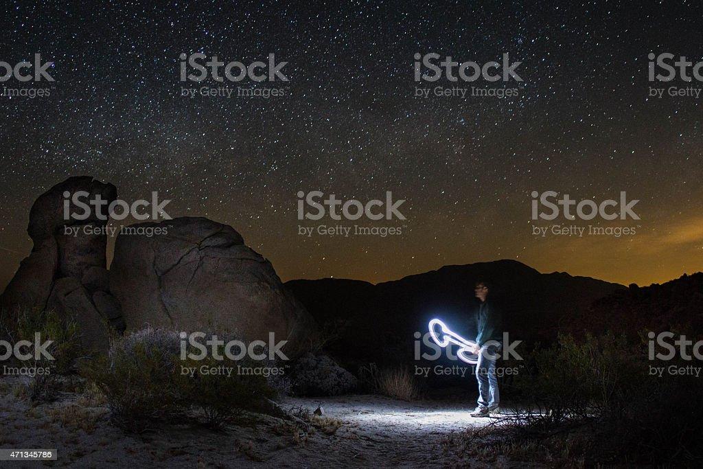 light painting - nsfw version stock photo