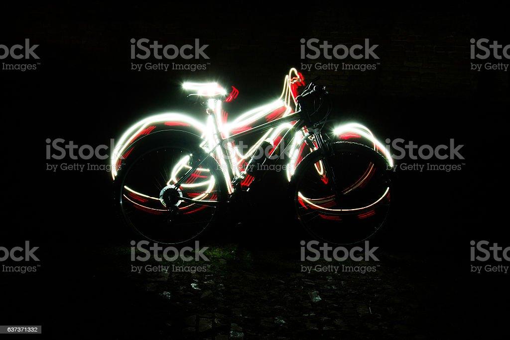 light painting stock photo