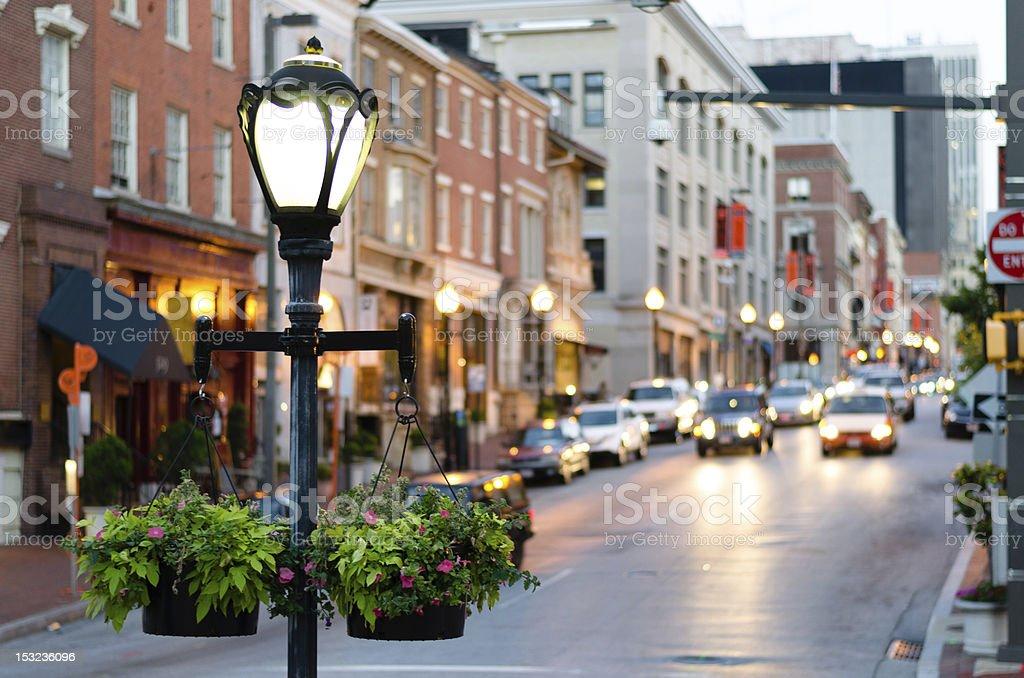 Light Pole on Mt Vernon stock photo