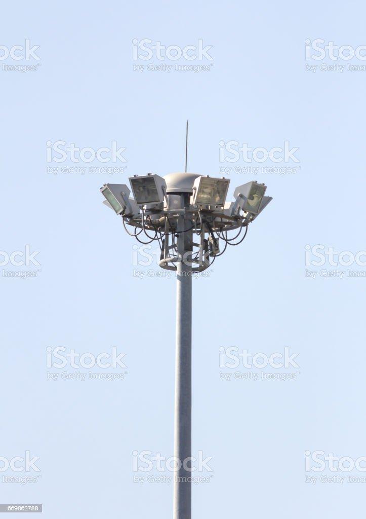 Light pole street stock photo