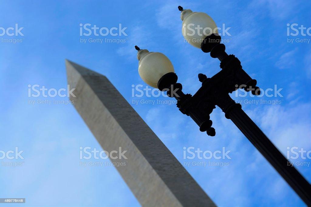 Light Post Washington Monument stock photo