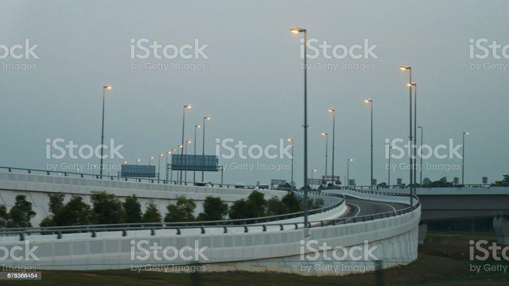 Light posts, Kuala Lumpur, Malaysia stock photo