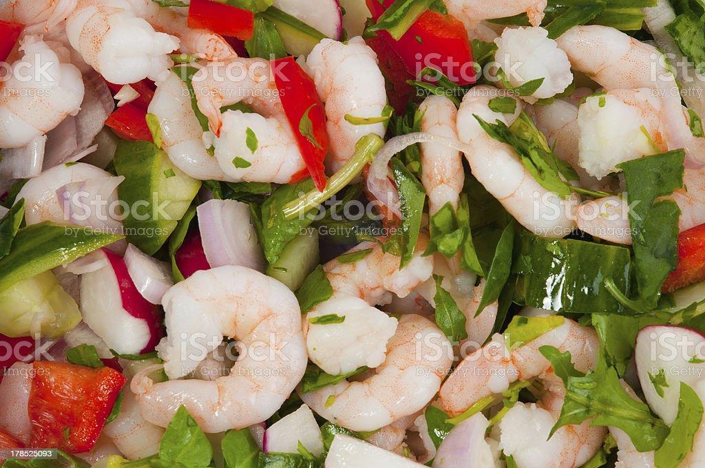 light prawn salad lunch royalty-free stock photo