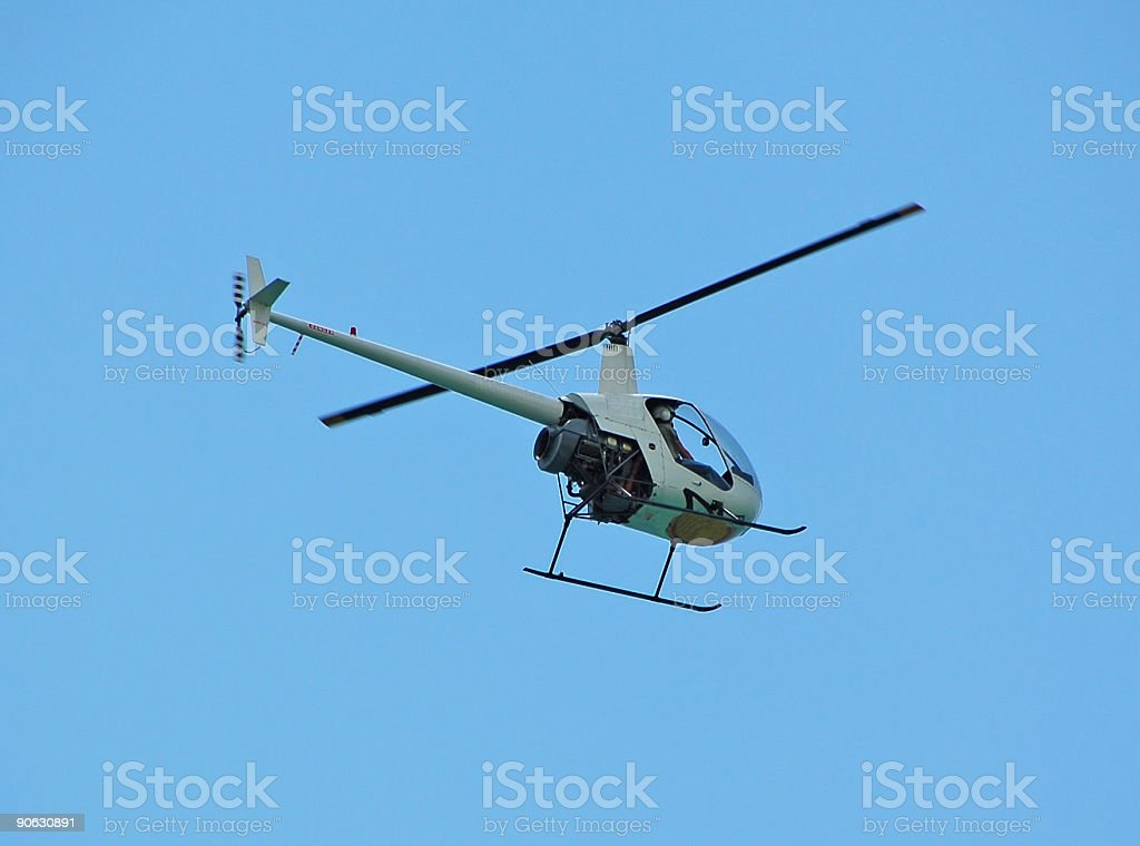 Light private helicopter stock photo