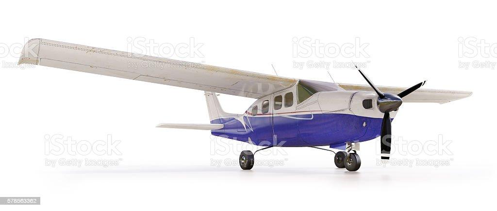 Light private plane stock photo