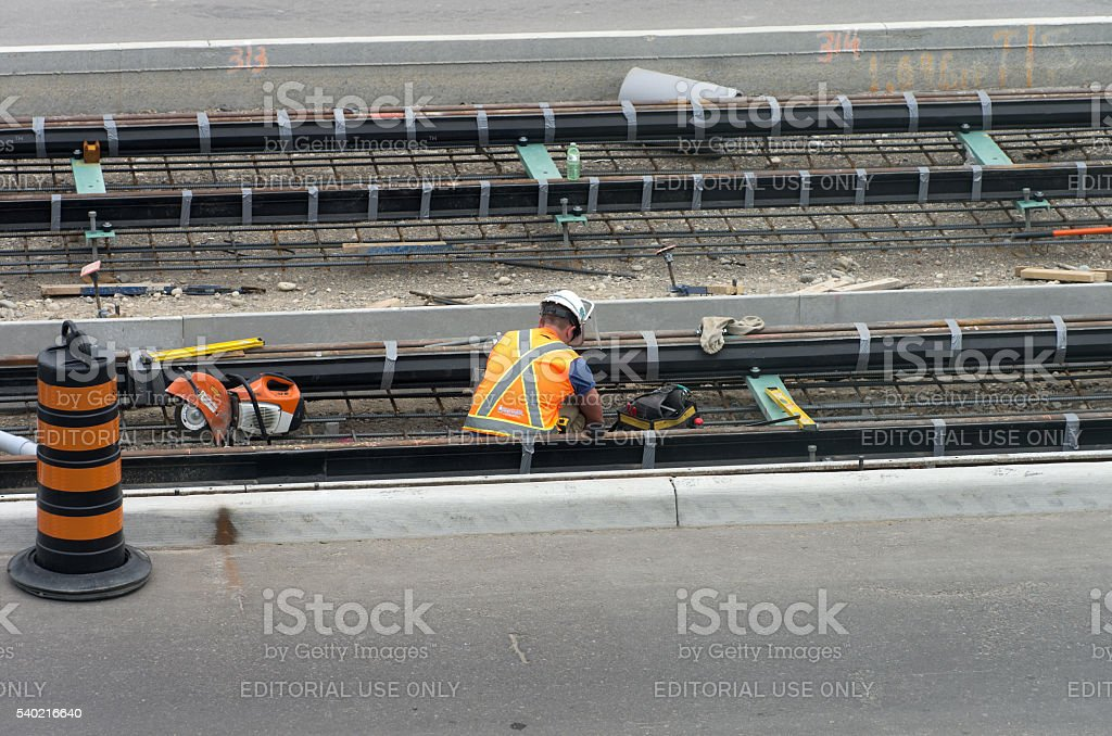 Light Rail Transit Construction stock photo