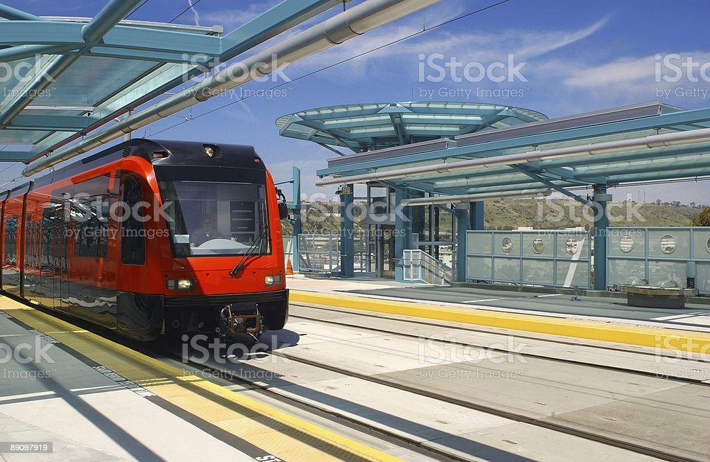 light rail trolley royalty-free stock photo