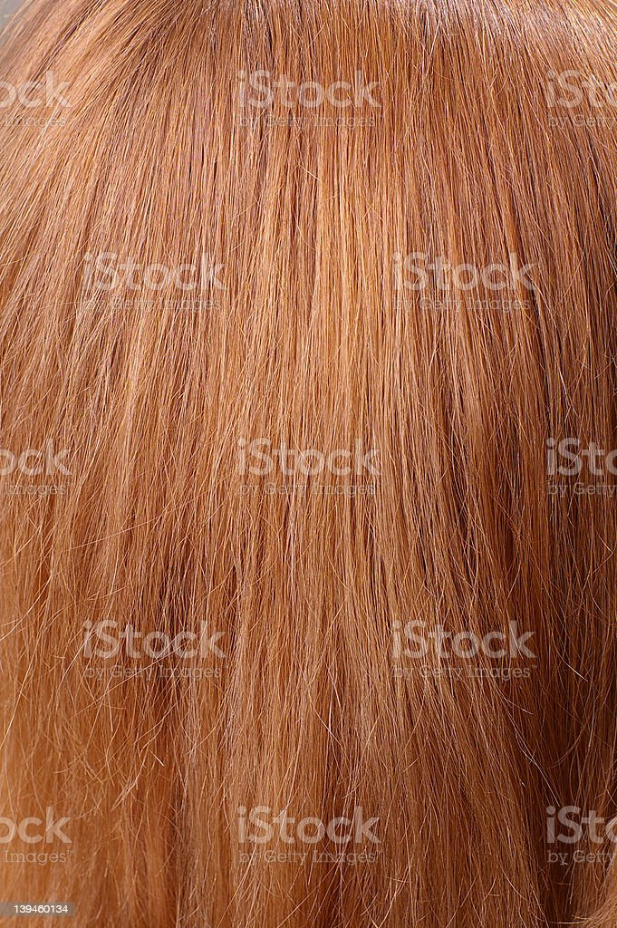 light red hair closeup stock photo