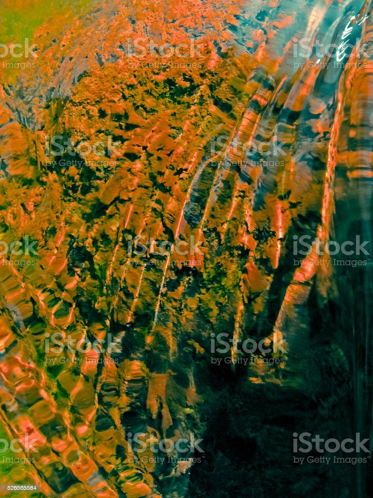 Light reflecting on water Surface stock photo