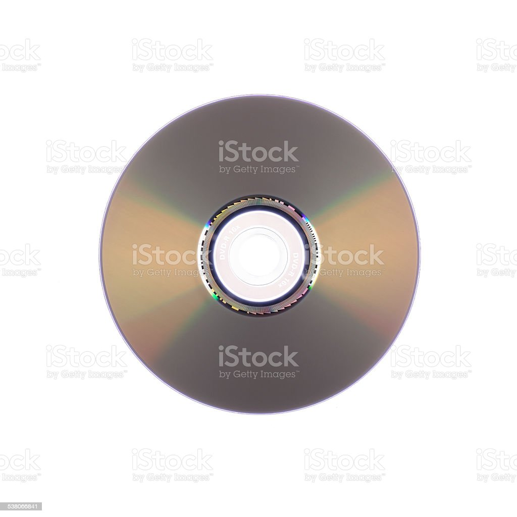 light refraction on a DVD stock photo