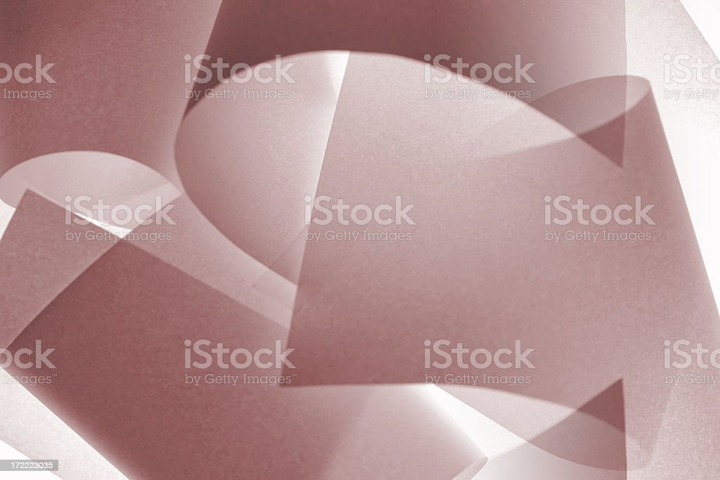 Light Sculpture in Red royalty-free stock photo